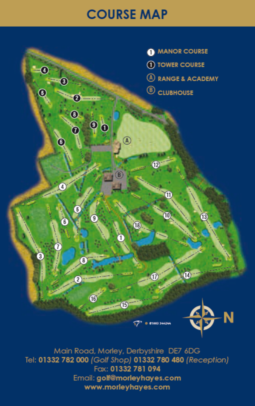 Morley Hayes Manor Course Map