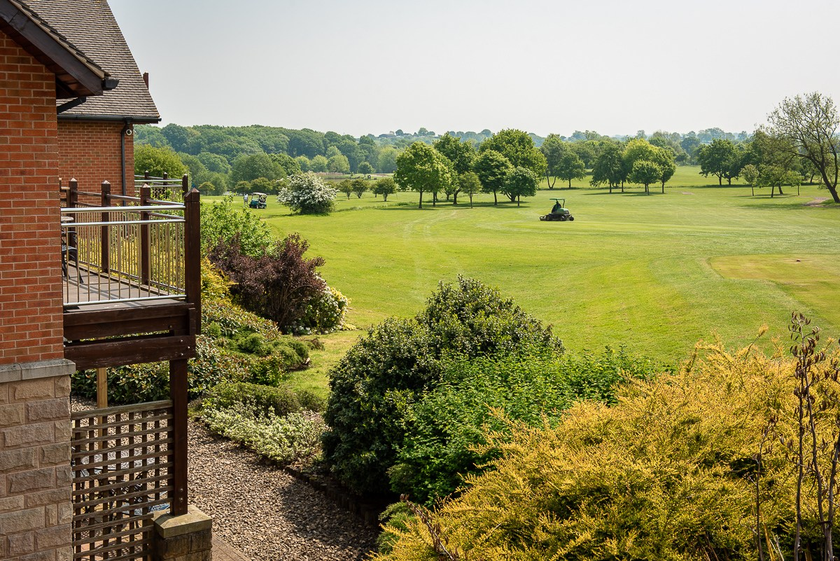 morley hayes hotel view over the parkland golfcourse